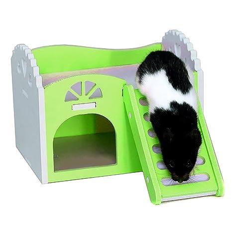 Dwarf Hamster Hideout Hut Safe - Jaula para casa para Animales Pequeños como Hámster Enano,