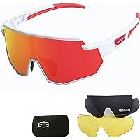 JEPOZRA Gafas de Ciclismo Polarizadas Gafas de Sol Deportivas con Montura TR90 Gafas de…