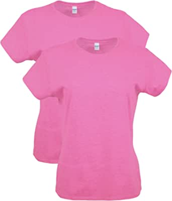 Gildan Womens G64000L Fitted Cotton T-Shirt, 2-Pack Short Sleeve T-Shirt