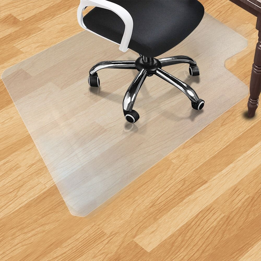 PVC Matte Desk Office Chair Floor Mat Protector for Hard Wood Floors 48 x 36 Home Desk Chair Mat Dull Polish Chairmat Protection Floor Mats Chawind