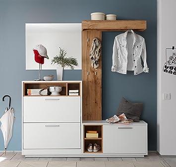 Lifestyle4living Kompaktgarderobe Garderobe Set Garderobenpaneel