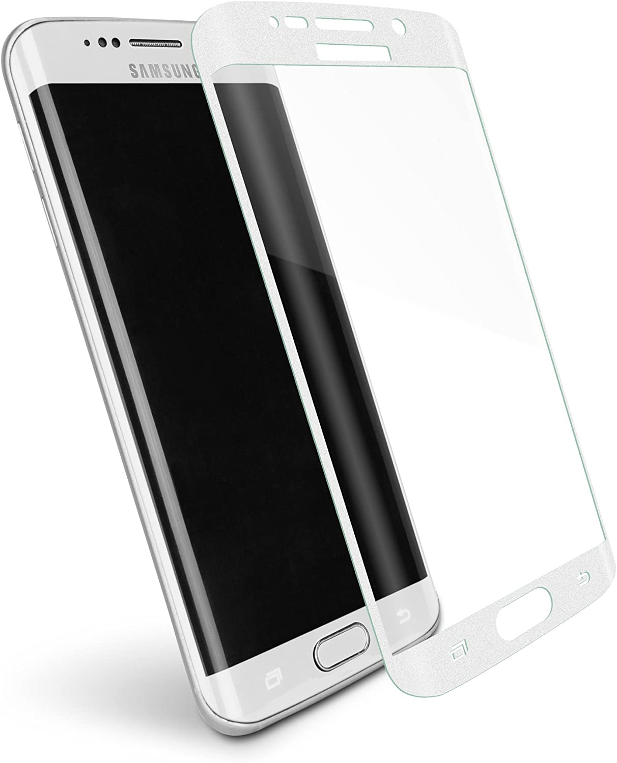 White Tempered Glass Screen Protector for Samsung Galaxy S6 Edge+ with Tool Kit