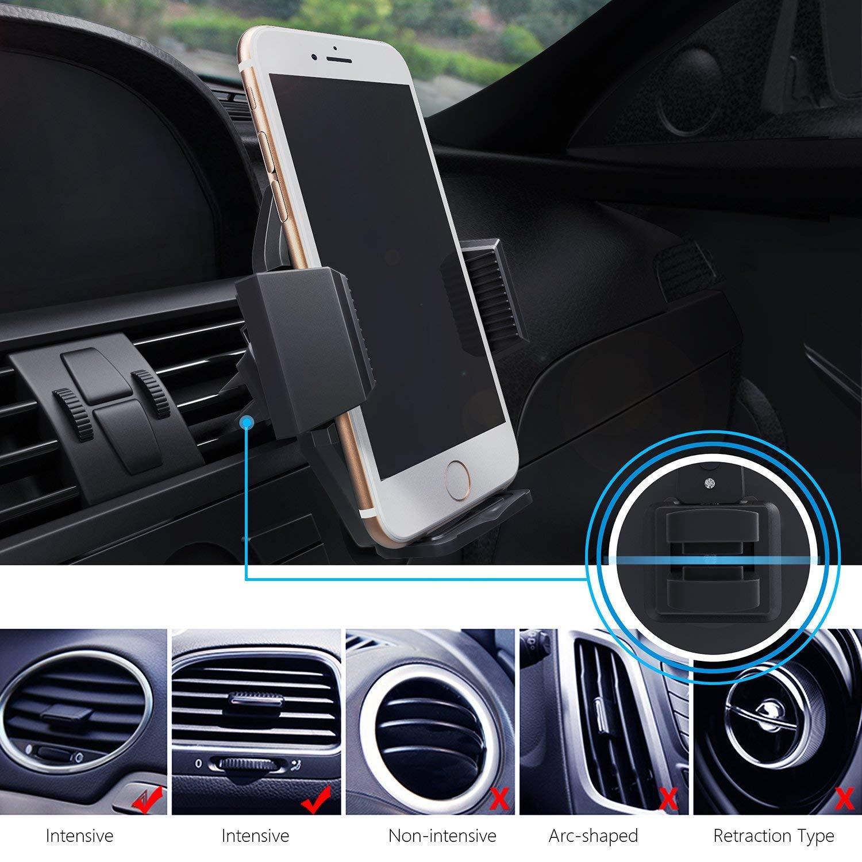 Nokia,Blackberry,Huawei,LG,GPS e Altri HTC Beikell Supporto per Auto Universale Supporto Auto Smartphone con Clip- Porta Cellulare con 360 Gradi di Rotazione Air Vent Car Mount per iPhone,Samsung