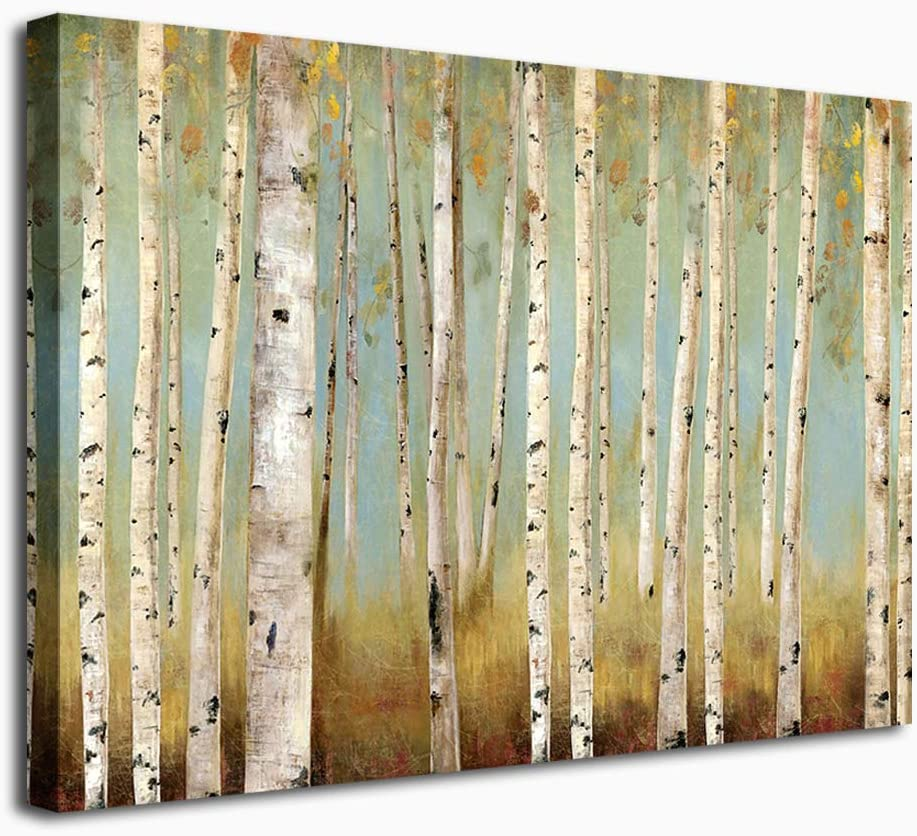"""Large Abstract Wall Art Birch Forest Vintage Contemporary Wall Decor Canvas Artwork Landscape Abstract Painting Retro Canvas Pictures for Living Room Bedroom Home Office Decoration 30"""" x 40"""""""