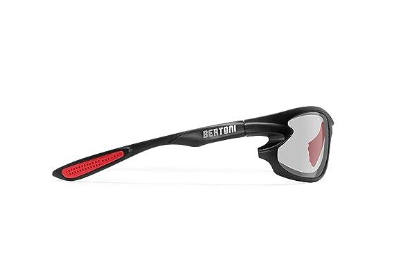 BERTONI Gafas de Sol Deportivas Polarizadas Fotocromaticas para Deporte Ciclismo Moto Pesca Esqui Golf Running - 676 Italy para Hombre y Mujer