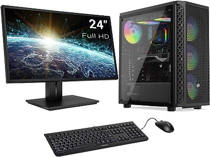 Sedatech Pack PC Gaming Advanced AMD Ryzen 3 1200 4X 3.1Ghz, Geforce GTX 1650 4Gb, 8 GB RAM DDR4, 1Tb HDD, WiFi. Ordenador de sobremesa, Monitor, Teclado/ratón, Win 10: Amazon.es: Informática