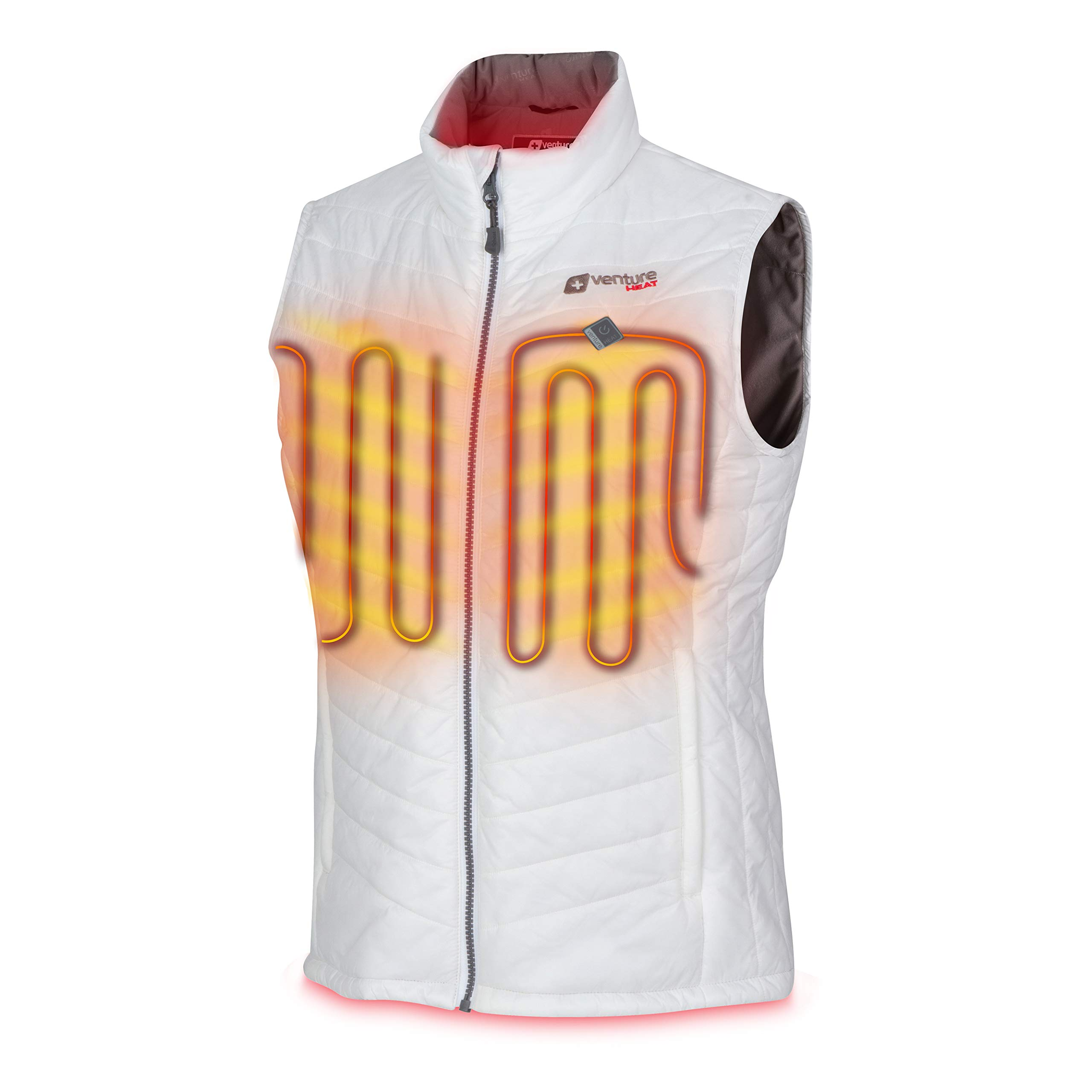 Venture Heat Women's Heated Vest with Battery Pack - Insulated Electric Jacket, Puffer Vest, Roam 2.0 (M, White) by Venture Heat