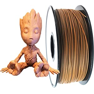 PRILINE Wood Filament 1.75 3D Printer Filament, Dimensional Accuracy +/- 0.03 mm, 1kg Spool