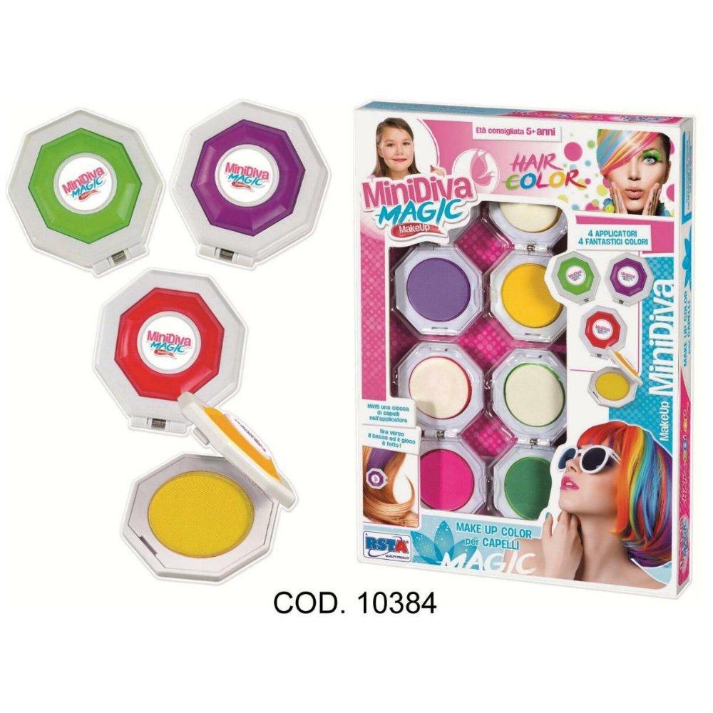 Rstoys - Ronchi Supe–Minidiva Magic Cheveux colorat, Multicolore, 3.st10384