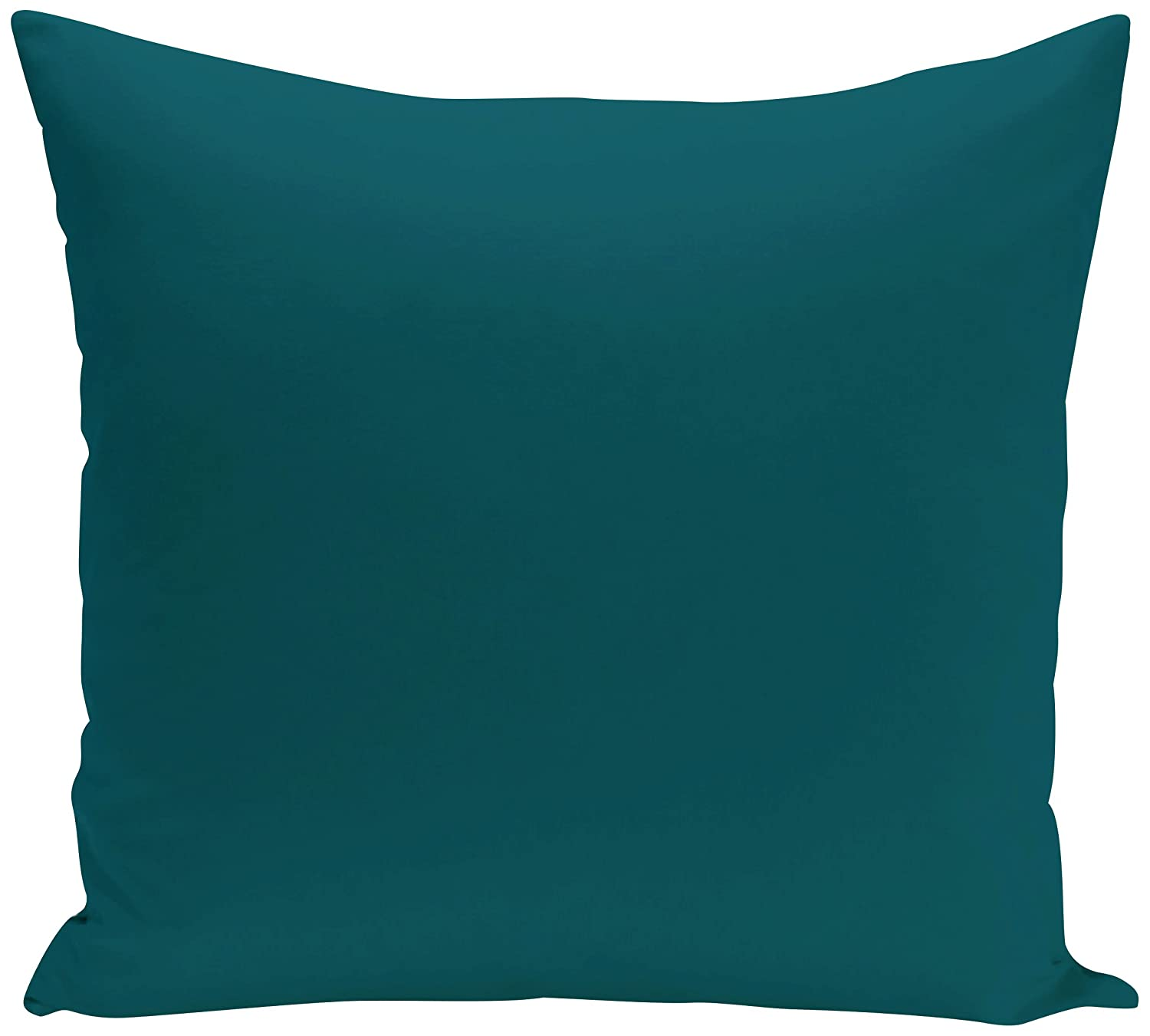 Teal 18x18 Blue E by design PSOBL38-18 18 x 18-inch Solid Print Pillow