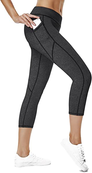 THE GYM PEOPLE Compression Yoga Leggings for Women, Heart Shape Workout Yoga Pants with Pocket Super Power Flex Fabric