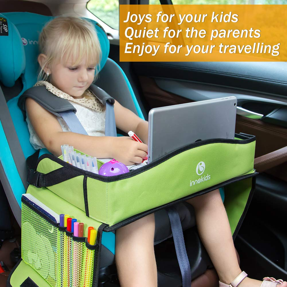 Innokids Kids Travel Lap Tray Children Car Seat Activity Snack And Play Desk With Erasable