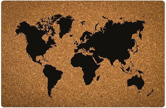 Invero Tabla de Corcho Mapa del Mundo Colgante de Pared Decoración ...