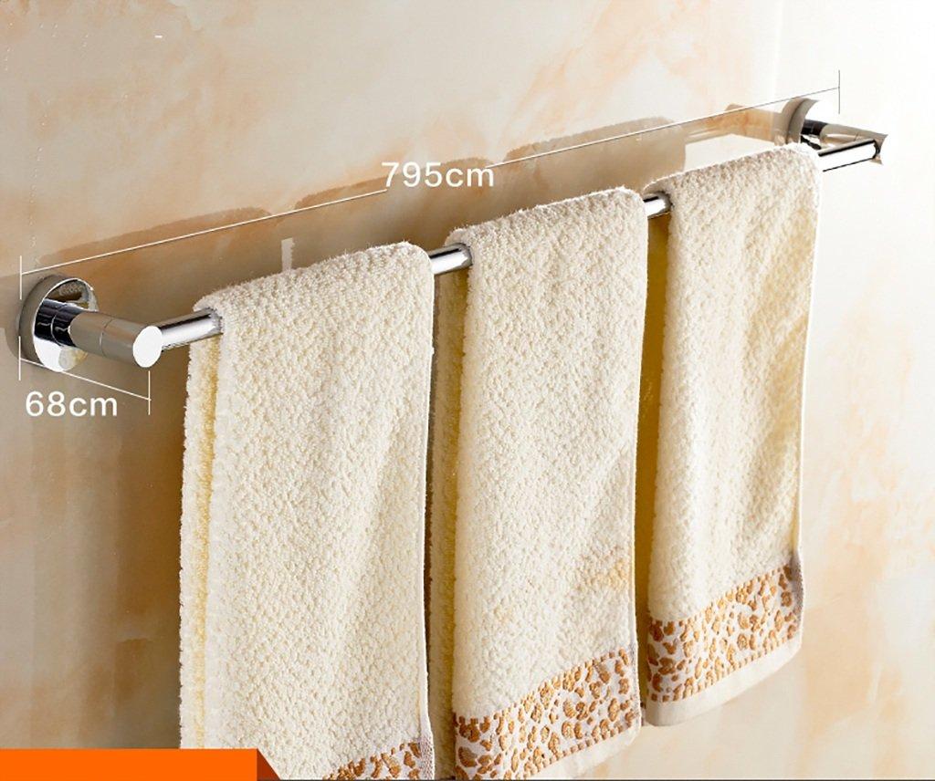 タオルバー バスルームタオルラック厚い銅タオルラックシングルロッドバスルームのハードウェアアクセサリートイレタオルバー (サイズ さいず : 700mm) B07DZQHL88 700mm 700mm