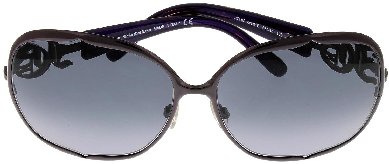 fd67d9fb6cd76 Amazon.com  John Galliano Sunglasses Womens JG0009 81B Purple Havana   Clothing