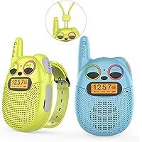 QNIGLO Q136 Walkie-Talkie Kinderen USB Oplaadbaar, FM-radio 2 km Bereik 10 Beltonen,Fietsen,Wandelen,Kamperen,Hardlopen…