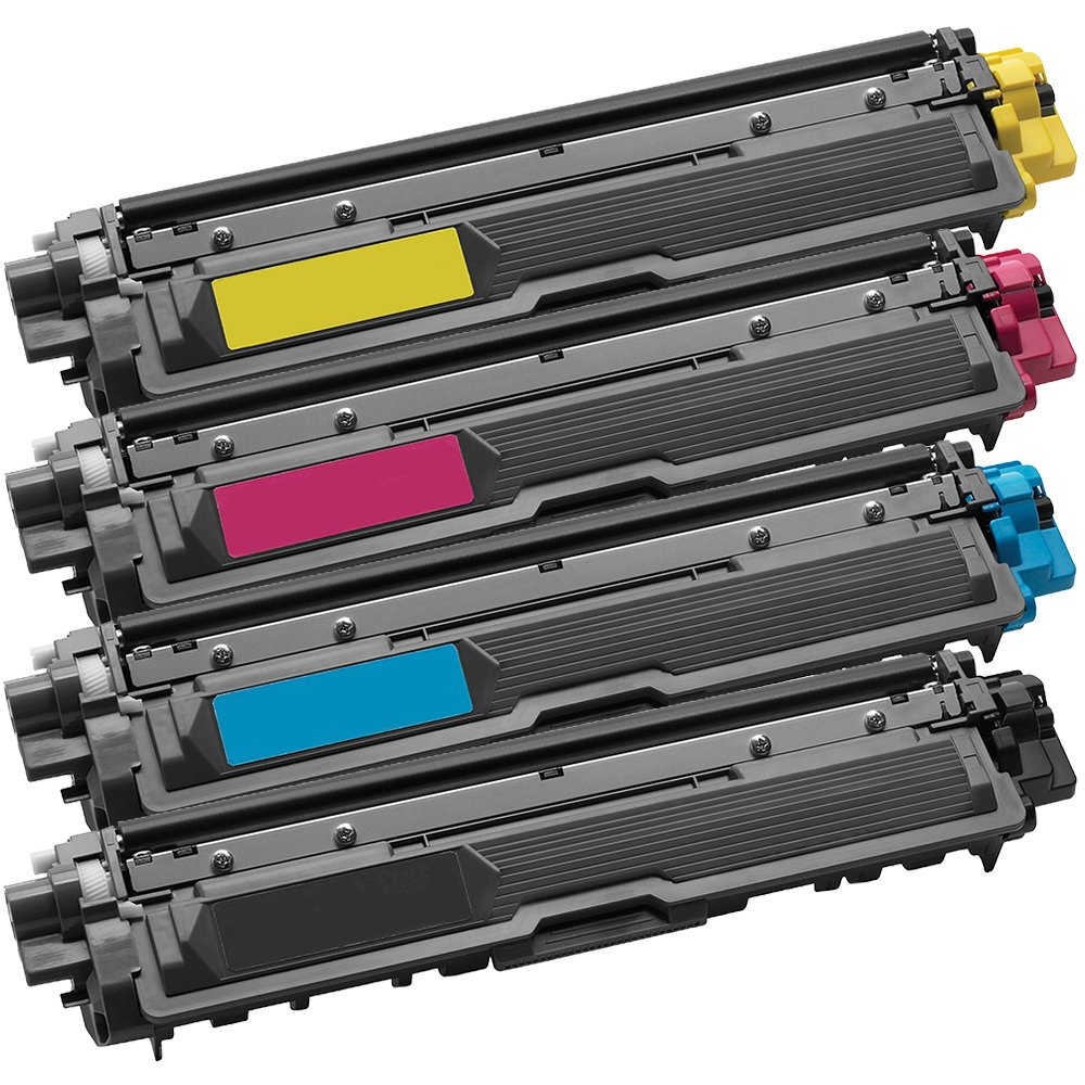 1 Set of 4 Inkfirst Toner Cartridges TN221BK, TN221C TN225C, TN221M TN225M, TN221Y TN225Y Compatible Remanufactured for Brother TN221 TN225 Black, Cyan, Magenta, Yellow MFC-9130CW MFC-9330CDW MFC-9340CDW HL-3170CDW HL-3170CW HL-3140CW Ink First IF-TN221221