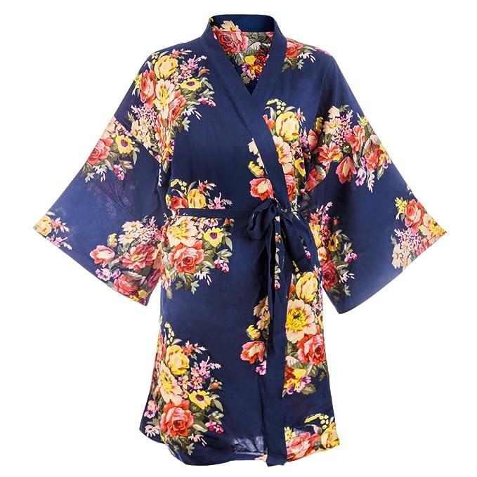 Mecotech Bata Kimono Mujer Sexy XXL Bata Novia para Boda, Fiesta, Dormir, Mujeres