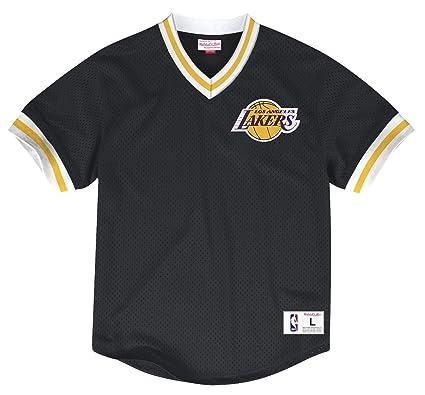 Amazon.com   Mitchell   Ness Los Angeles Lakers NBA Men s Mesh V-Neck Jersey  Shirt   Sports   Outdoors 5b1aedf6f