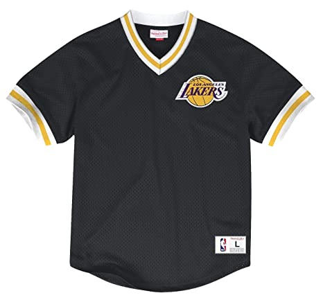 85d5f41d Los Angeles Lakers Mitchell & Ness NBA Men's Mesh V-neck Jersey Shirt
