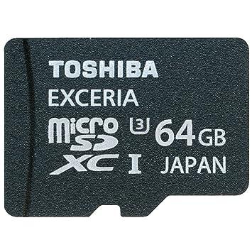 Amazon.com: Toshiba 64 GB Micro SDXC Class 10 UHS-I Exceria ...