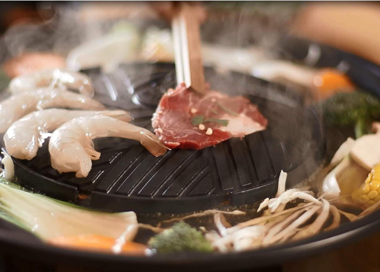 TomYang - Parrilla BBQ eléctrica Thai - Barbacoa y Hot Pot: Amazon.es: Hogar