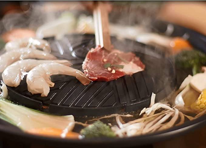 TomYang - Parrilla BBQ eléctrica Thai - Barbacoa y Hot Pot: Amazon.es: Hogar