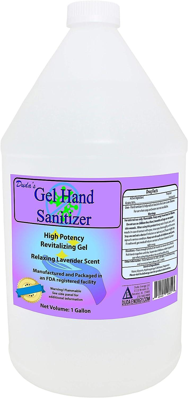 Amazon Com Duda Energy Gel Desinfectante De Manos Lavanda 128 Fl Oz Health Personal Care