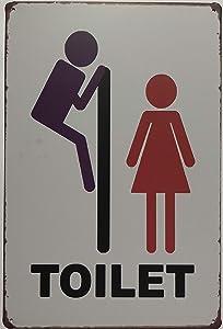 """+Urbano Toilet Unisex Mirror Vintage Retro Tin Sign Home Pub Bar Deco Wall Decor Poster Size 8"""" x 12"""""""