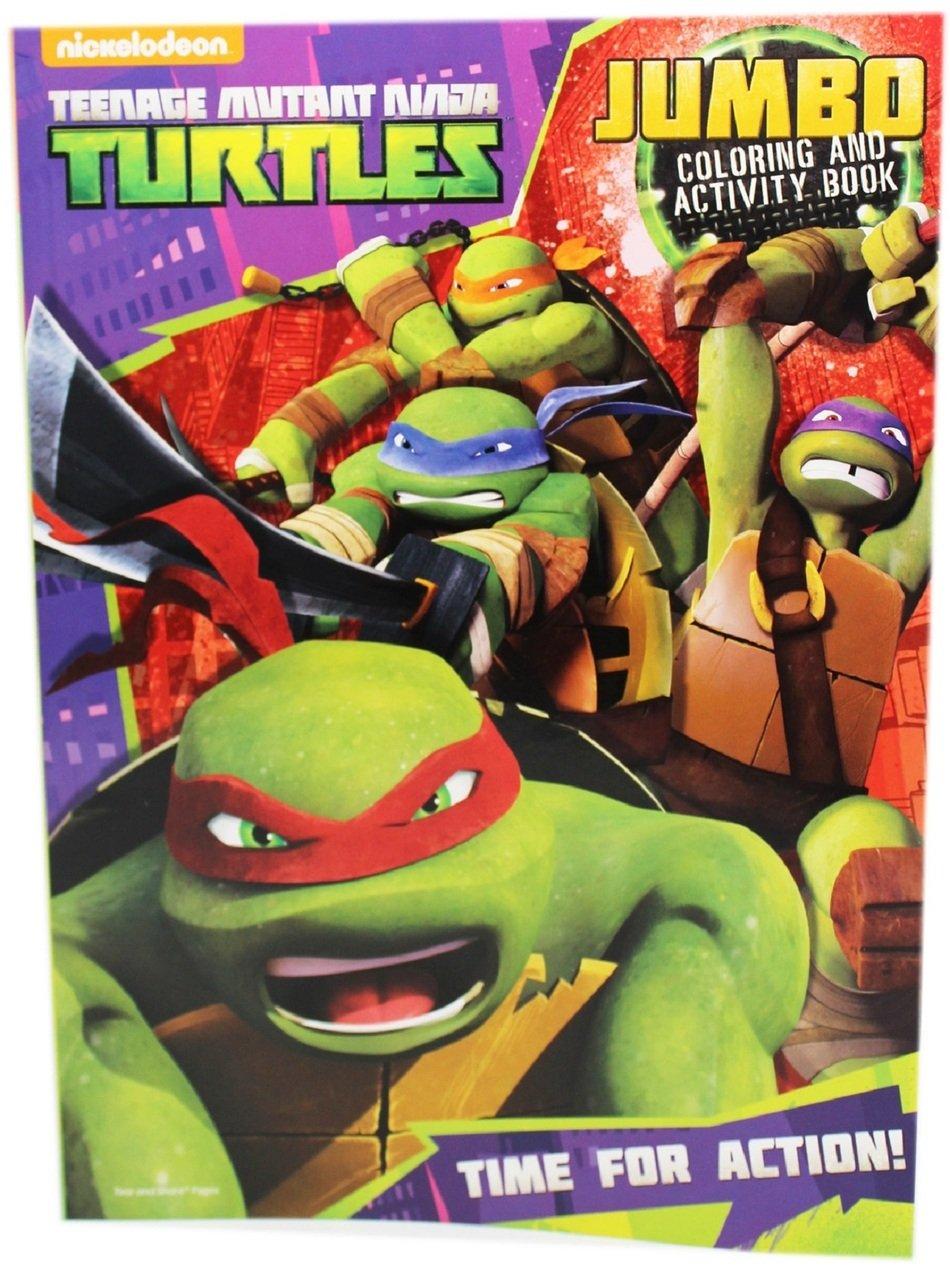 Teenage Mutant Ninja Turtles 96 pgカラーリングandアクティビティブック – Time Forアクション   B01MYCEV2L