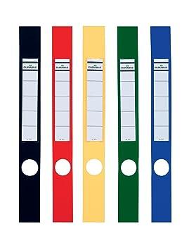 Durable Ordofix - Etiquetas verticales para archivador estrecho (40 mm, lote de 10 unidades) colores surtidos: Amazon.es: Oficina y papelería