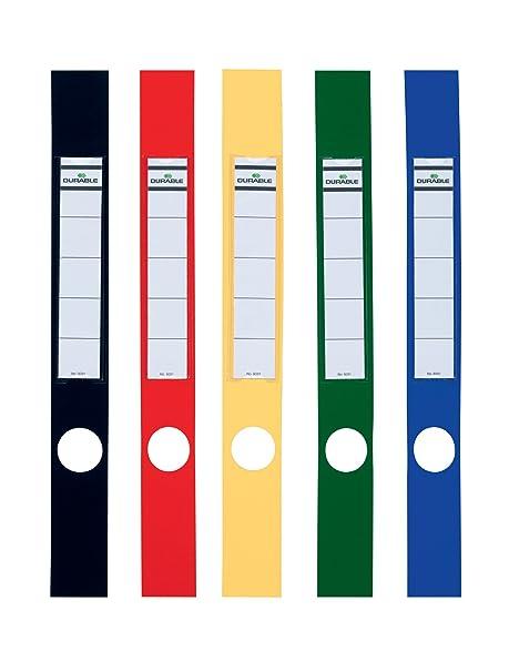 Durable Ordofix - Etiquetas verticales para archivador estrecho (40 mm, lote de 10 unidades