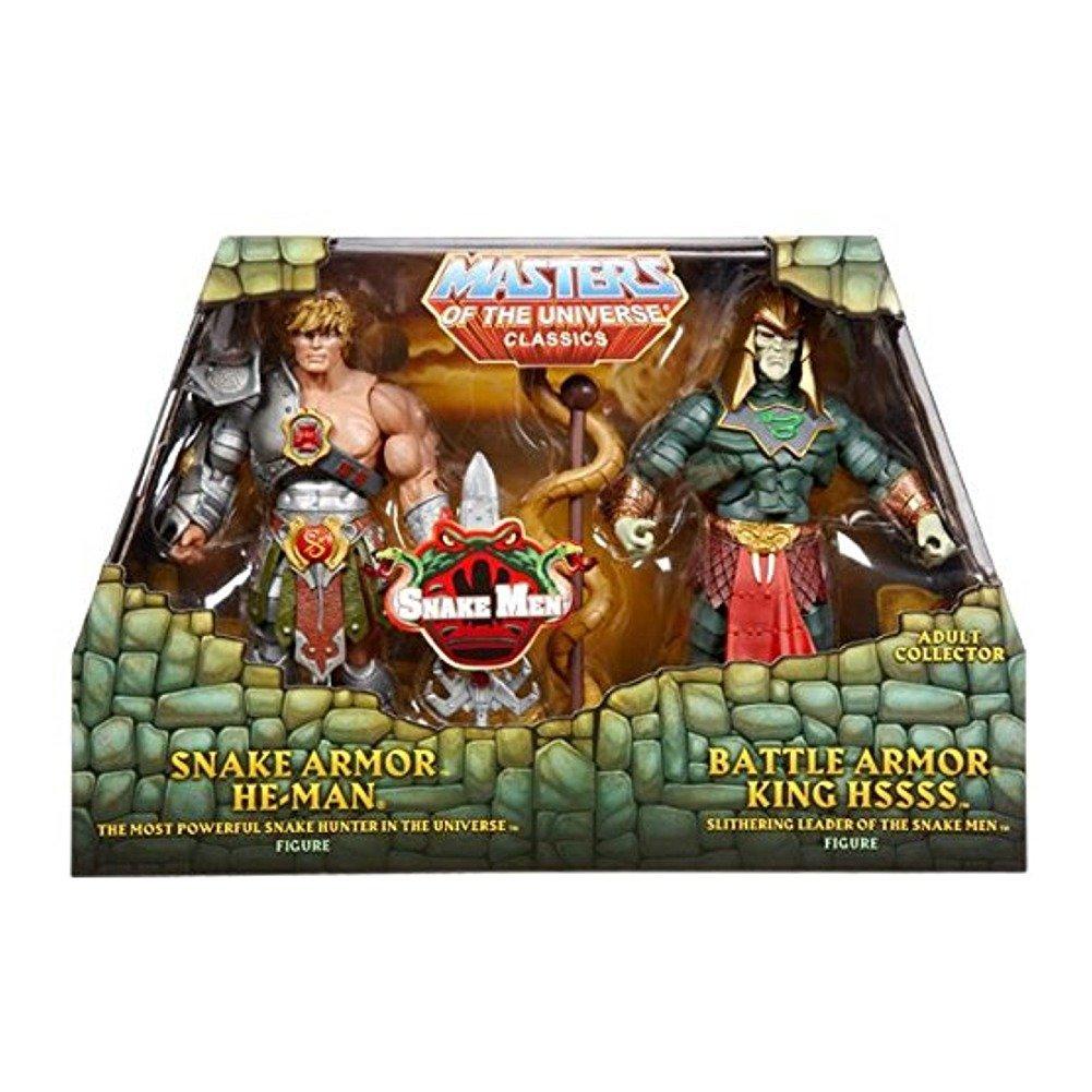 Mattel MOTUC Masters of the Universe Classics Action Figures 2-pack Snake Armor He-Man & Battle Armor King Hssss