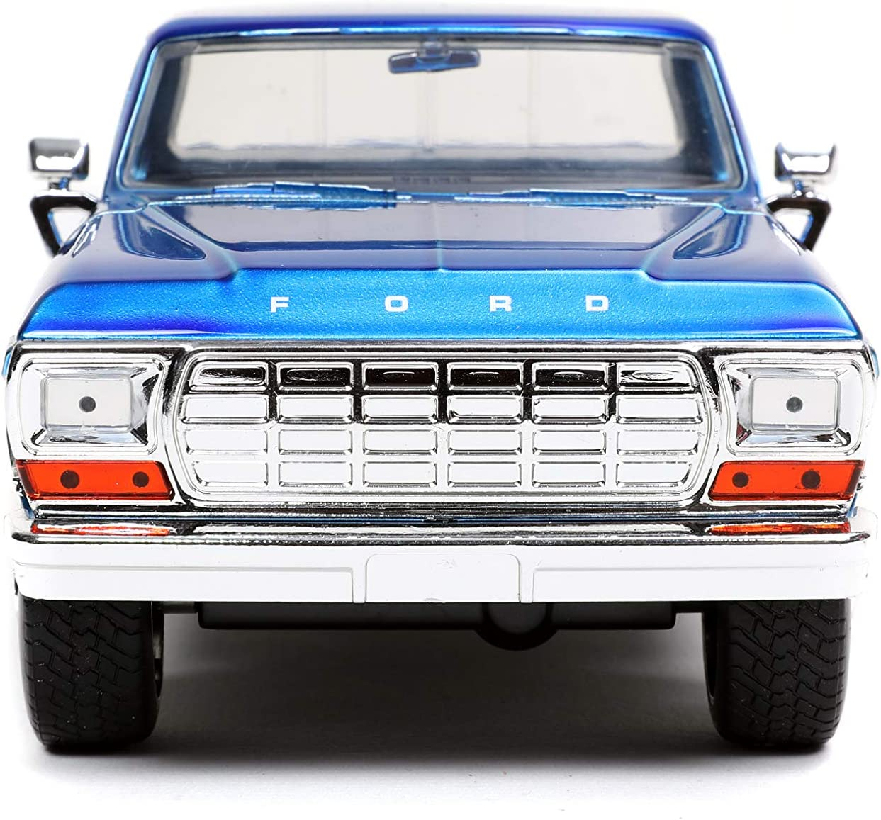 Jada Toys Just Trucks 1:24 1970 Ford F-150 with Rack Die-cast Car Candy Blue Toys for Kids and Adults