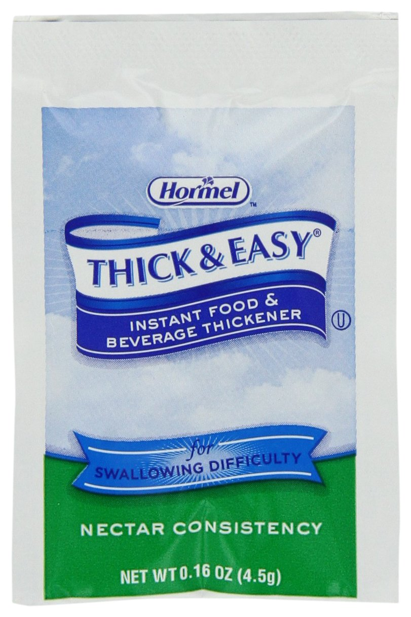 Hormel Thick & Easy Instant Food Thickener, Nectar Consistency, 0.16 Ounce (Pack of 100)