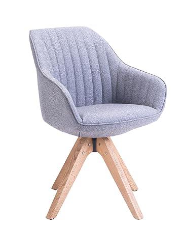 Lieblich KAYELLES Stuhl Skandinavisches Design Dune, Wohnzimmer, Esszimmer, Büro  Sessel Modern Gris Flanelle