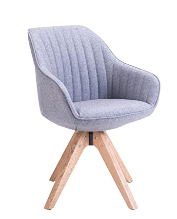 KAYELLES Stuhl Skandinavisches Design Dune, Wohnzimmer, Esszimmer, Büro  Sessel Modern Gris Flanelle