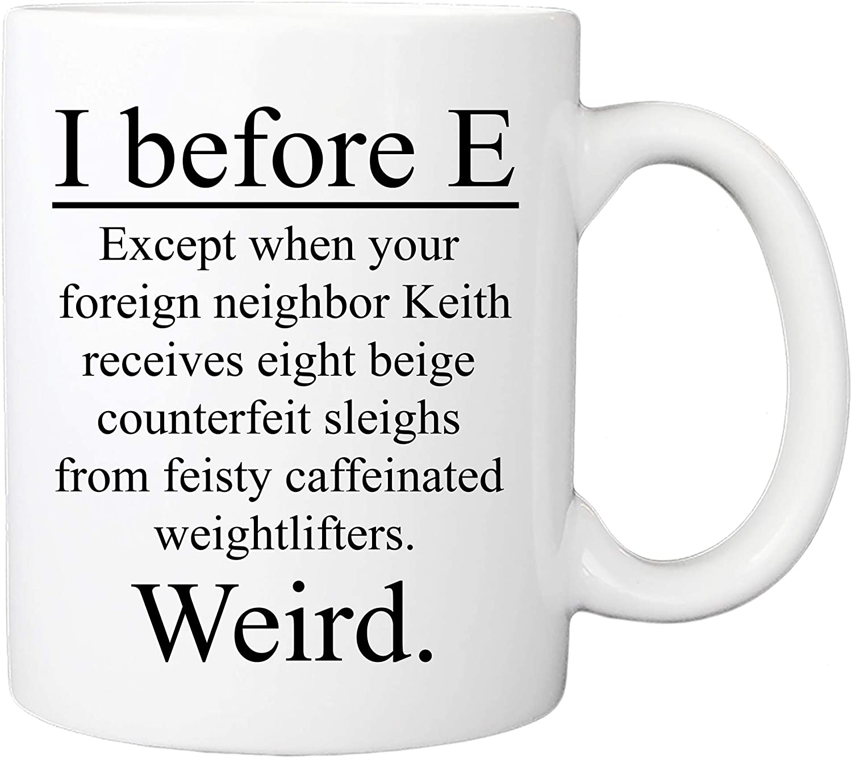 I Before E Funny Teacher Supplies
