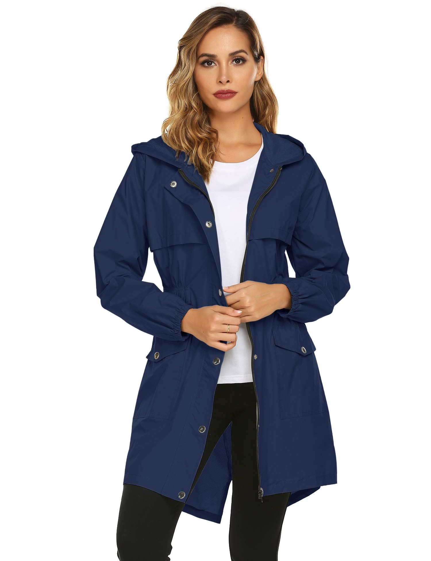 Avoogue Trench Coats for Women, Lightweight Hooded
