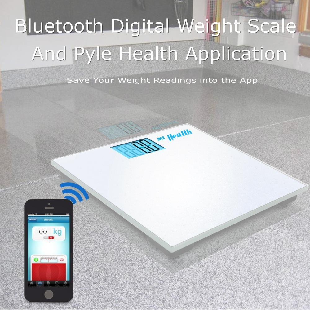 Pyle Digital Scale Smart Bathroom Body weighing scale With Wireless Bluetooth Smartphone composition analyzer for iPhone iPad & Android Devices Large Display (PHLSCBT2WT) (White) by Pyle (Image #5)