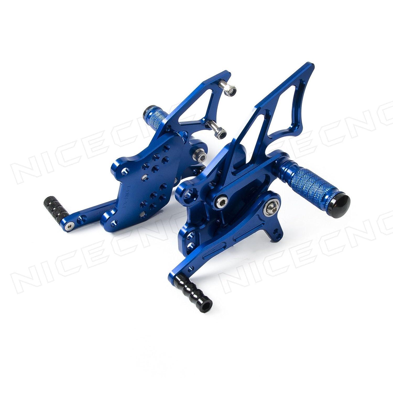 Amazon.com: NICECNC Blue Motorcycle Racing Fully Adjustable ...