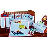 Aurraa Transport Theme Crib Bedding set with Bumper-10 Pcs (CBWB-10109)