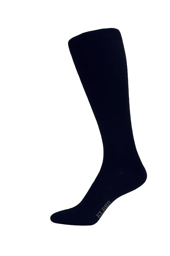 Mens Herren Bamboo Travel Kniestrumpf, 935969 Knee-High Socks Elbeo