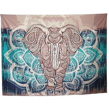Mofeng Bohemian Mandala Elephant Home Decor Wall Decoration Wall Hanging  Tapestry Beach Blanket, 79u0026quot;
