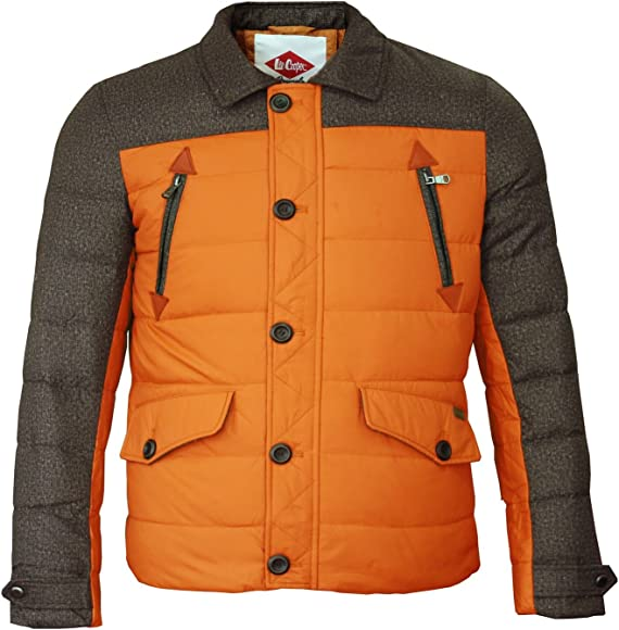 lee cooper two tone down jacket mens