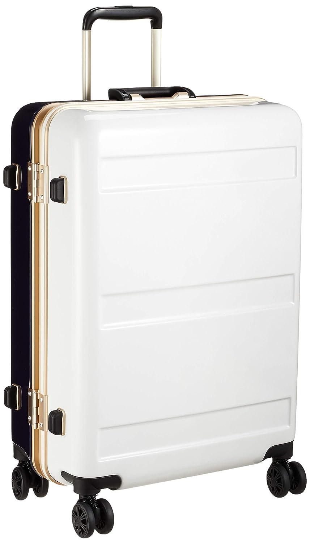 [シフレ] ハードフレームスーツケース 中型 Mサイズ 1年保証付き サスペンション付キャスター 保証付 60L 57 cm 4.6kg B07H28MXK3 ホワイト/ネイビー