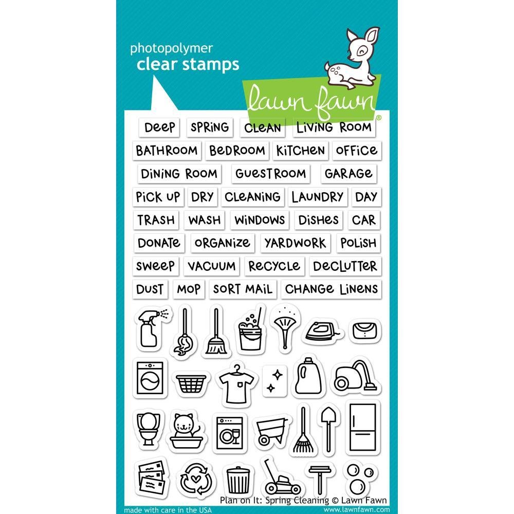 Lawn Fawn Clear Stamps LF1607 Plan On It: Spring Cleaning