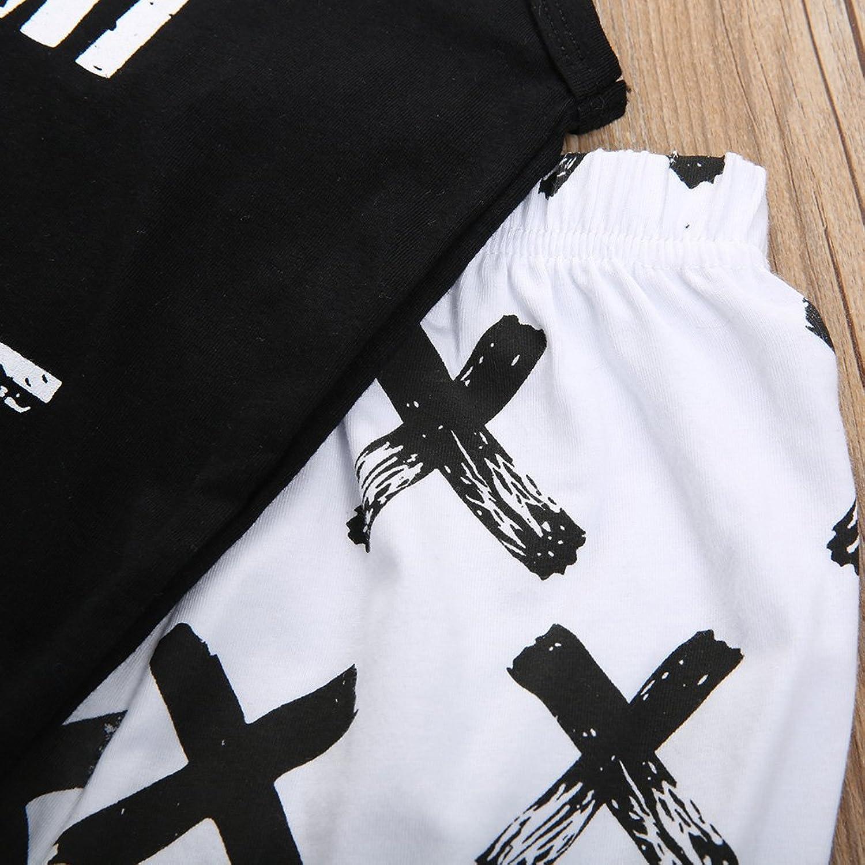 Black t shirt white cross - Amazon Com 2pcs Newborn Baby Boys Black T Shirt Tops White Cross Print Pants Outfits Set Clothing