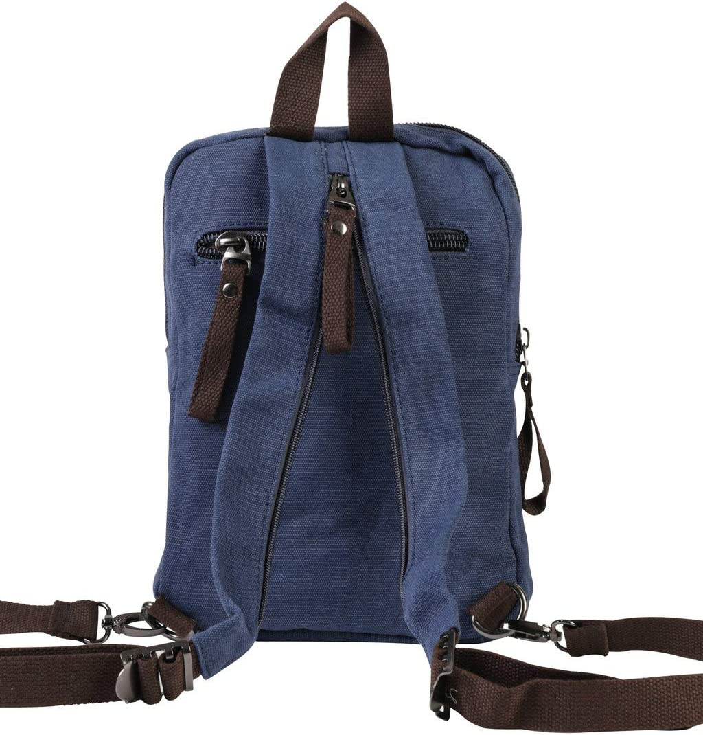 Mini Canvas Backpacks Casual Strong Small Packback Daypack,181002-Blue