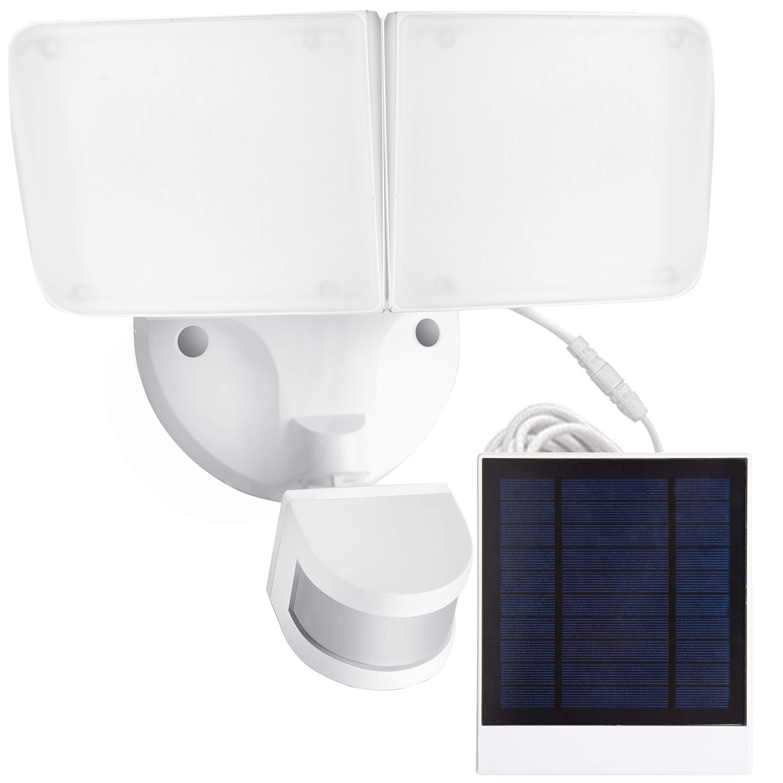 Amico Solar LED Security Light, Outdoor Motion Sensor Light, 5500K, 1000LM, IP65 Waterproof, Adjustable Head Flood Light with 2 Modes Automatic and Permanent on, for Entryways, Patio, Yard by Amico